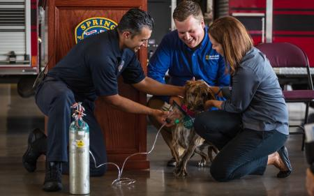 Fire Departments Receive Life-Saving Equipment For Pets